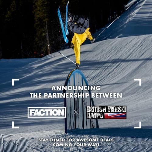 faction ski's partner british freeski camps